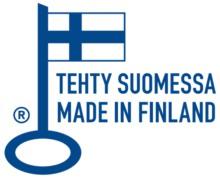 Avainlippu Kruunuaita - tehty Suomessa